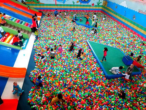 Los parques de bolas más raros del mundo